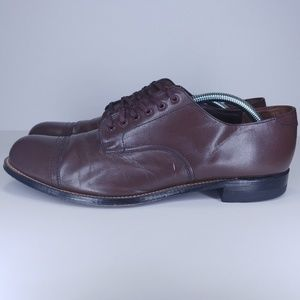 Stacy Adams men's brown oxford dress shoes